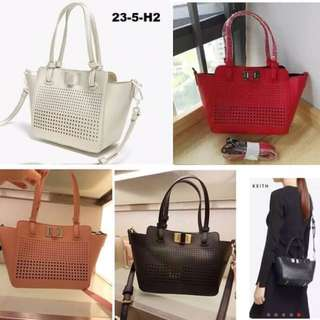 CHARLES & KEITH Perforated Turn-Lock Tote
