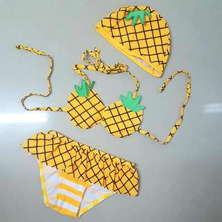 ❤全新可愛菠蘿泳衣套裝👙