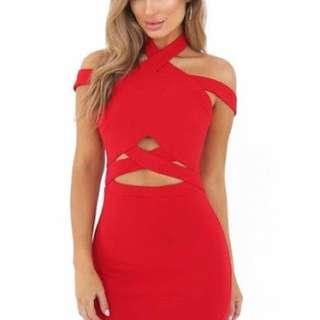 Tigermist Red Dress Size 8