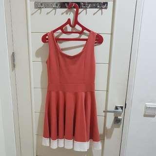 Peach Lady Dress Murah
