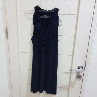 Evening Navy Dress Murah