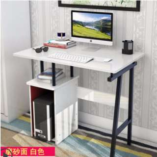 Simple and Neat White Desktop Table
