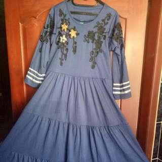 Gamis Aksen Batik