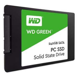 "Western Digital Green WDS240G2G0A 240GB SSD (2.5"" 7mm, TLC, SMI SM2256S, 540/435MB/s R/W)"