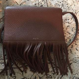 Auxiliary Fringe Cross Body Purse
