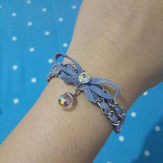 Denim Ribbon Bracelet