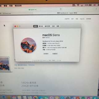 MacBook Air 13吋 Early 2014