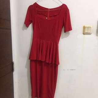 Olla Peplum Dress (premium)