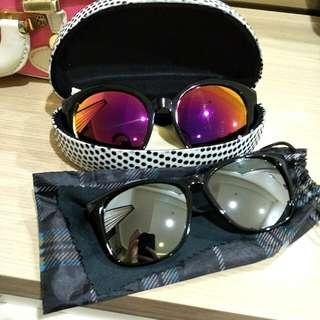 鏡面太陽眼鏡兩副 #太陽銀鏡出清