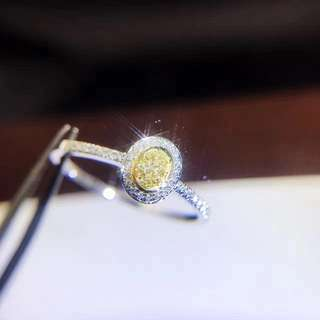 18k Yellow,white Diamond Ring