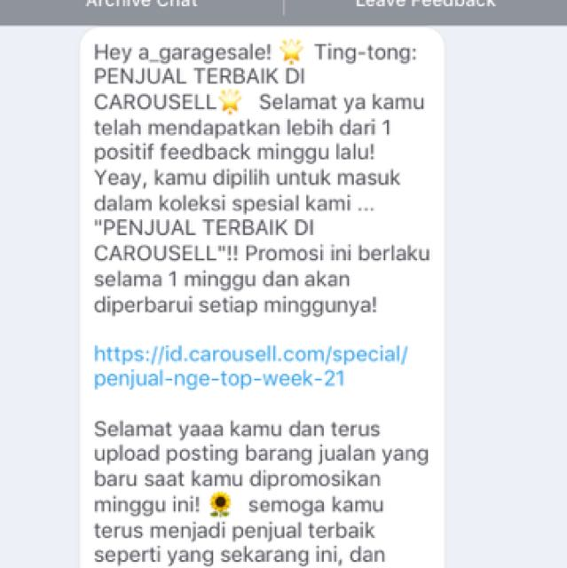 2ND NOTIF! THANK YOU CAROUSELL