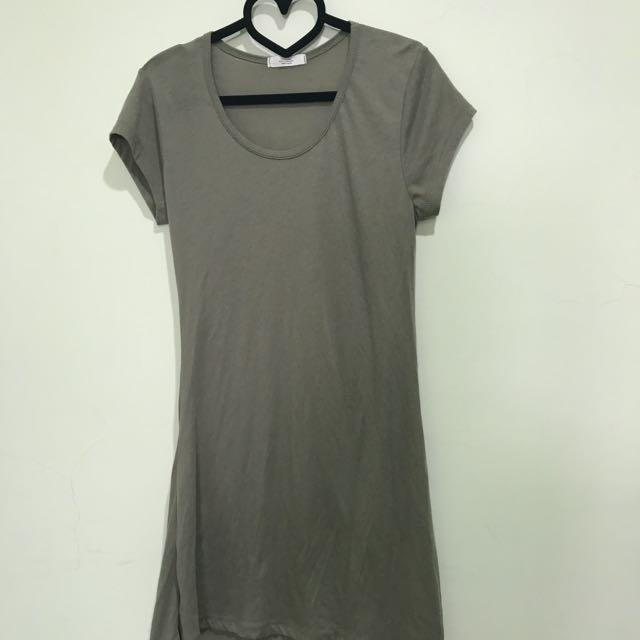 正韓淺灰色長版上衣 #一百元上衣