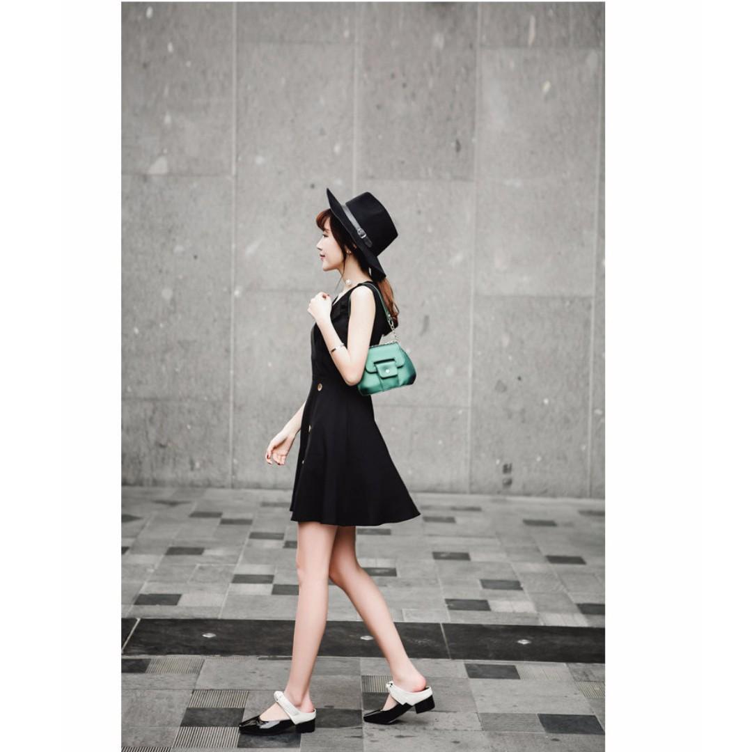 跟鞋 雜誌新款 平結 典雅脫俗 半拖鞋 低跟鞋 A060524 POCKET@PCK