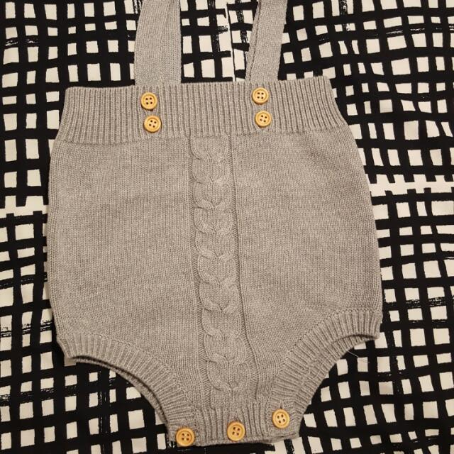 *Brand New* Baby Grey Knit Romper