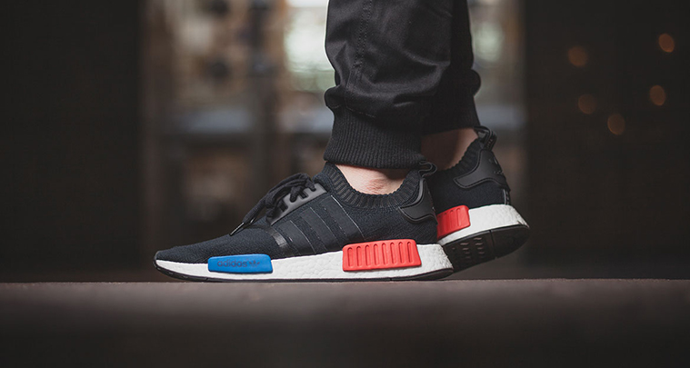 ☺☼ UK 9 Adidas NMD PK OG Black Posted