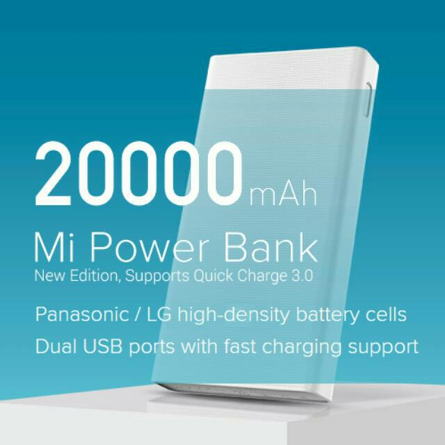🆒 Xiaomi 20000 mAh Power Bank (QC3.0 Gen2)