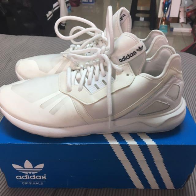 Adidas Tubular Runner 全白 運動鞋