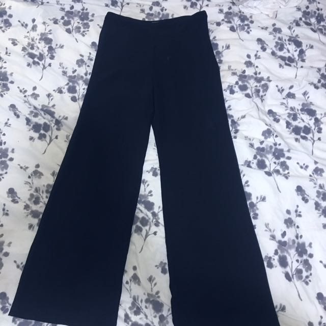 American Apparel Crepe High Waist Wide Leg Pant