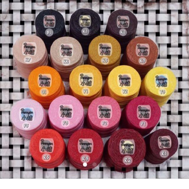Annyon小舖~蠟線繩社泰國進口蠶絲蠟線手工編織飾品顏色選色參考!不賣線材~