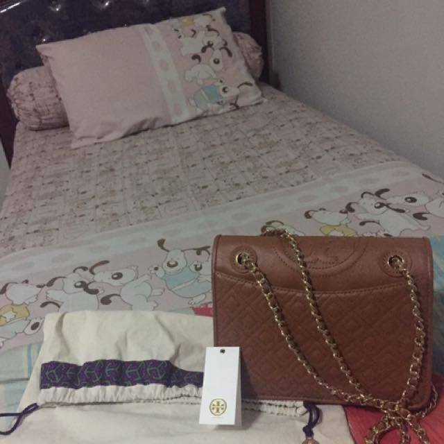 Authentic Tory Burch Fleming Flap Chain Bag