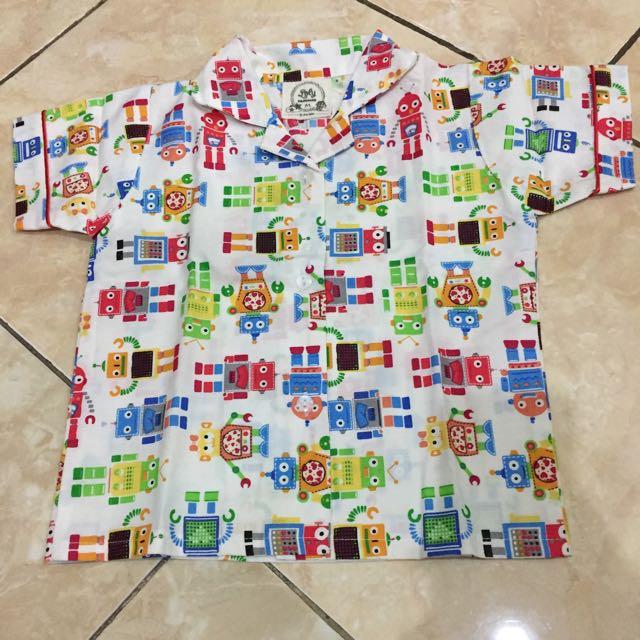 Baju Tidur Anak Motif Lego