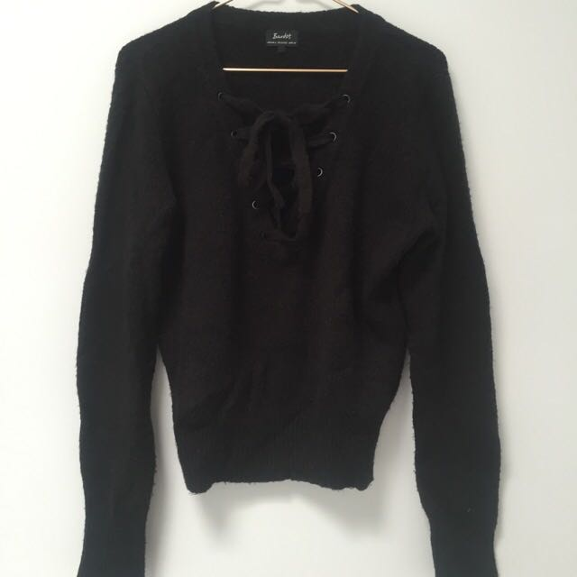 Bardot Knit Jumper Black