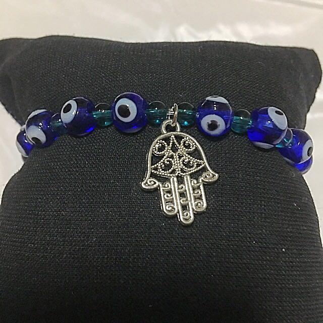 BR208 Unisex Evil Eyes Hamsa Hand Bracelet