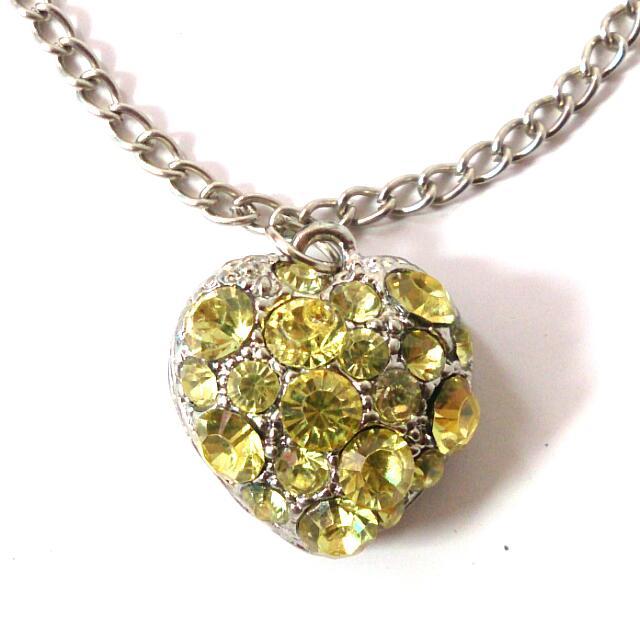 Bracelet Sparkling Yellow Heart Gelang Hati Kuning