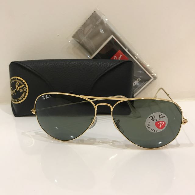 30316dde298d4 Brand New 100% Authentic Ray Ban polarised + anti reflective Sunglasses  Classic Model ( Same Model Worn By Big Boss In DOTS) Gold frame