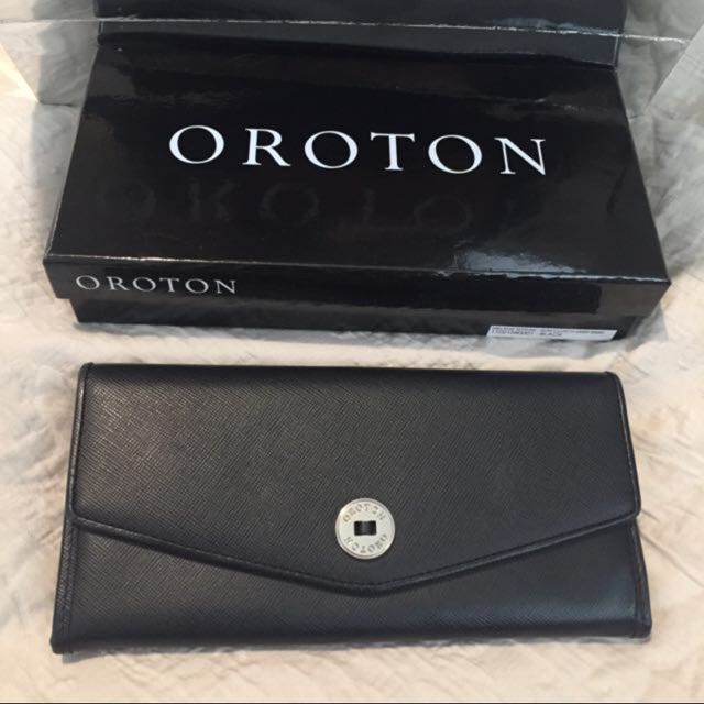 Brand New Oroton Melanie Texture Slim Clutch Wallet