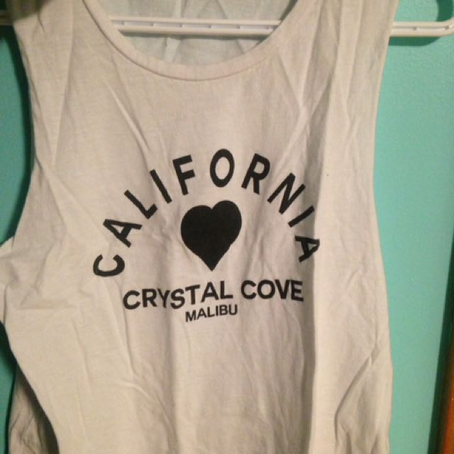 Brandy Melville Muscle Tank Cropped
