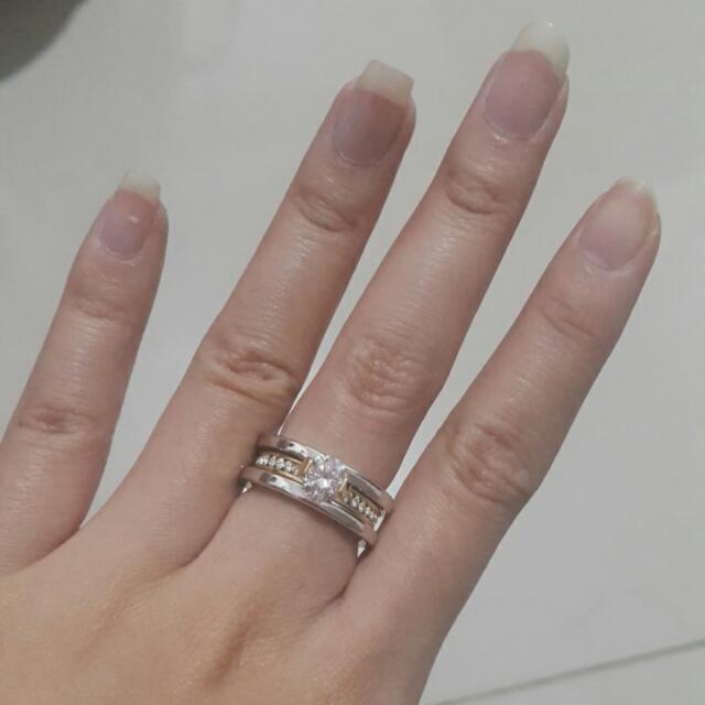 Bvl Diamond Ring Size 6 Warna Gold- Silver Only