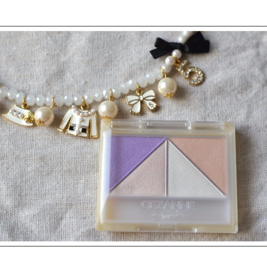 【全新附盒】CEZANNE Sweets Sweets 珍珠光眼影(粉紫色系)/日本帶回。出清特賣。新手必備。可面交。