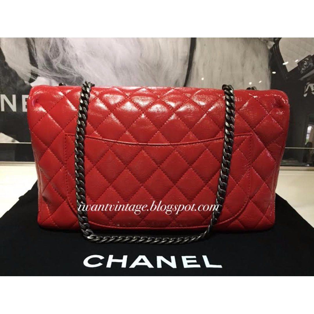 97b520696640 Chanel A93943 Seasonal Flap Bag-Dark Orange, Luxury, Bags & Wallets on  Carousell