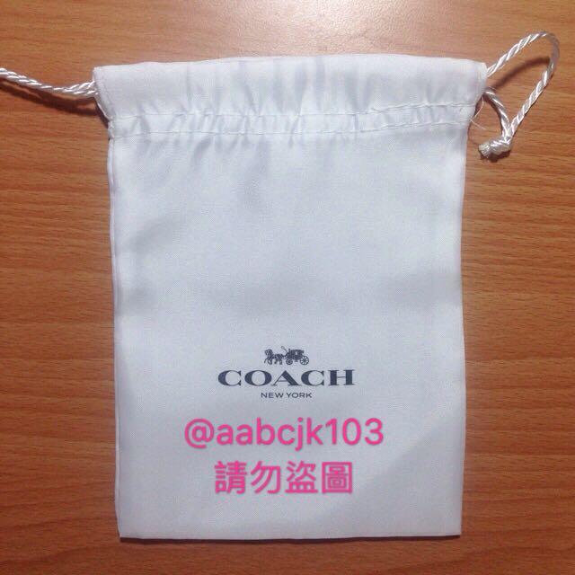 Coach小型精品包裝防塵袋黑白