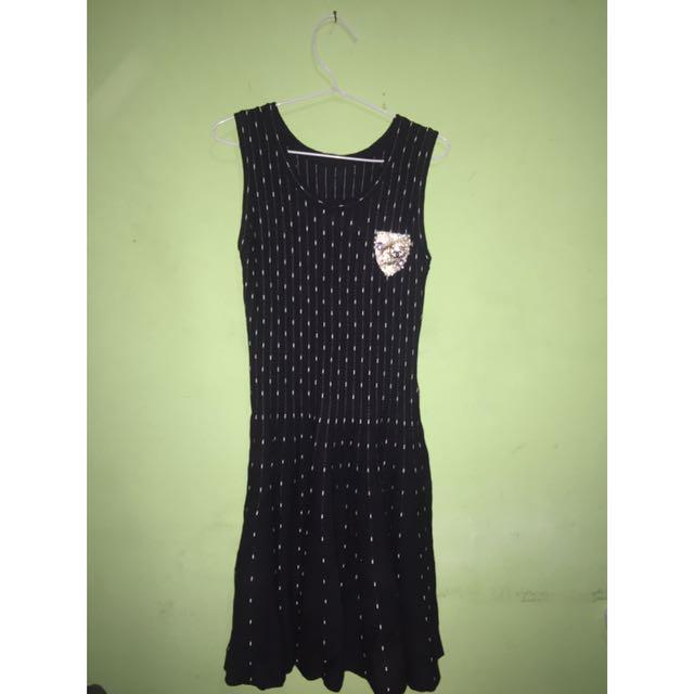 Cotton Dress Black