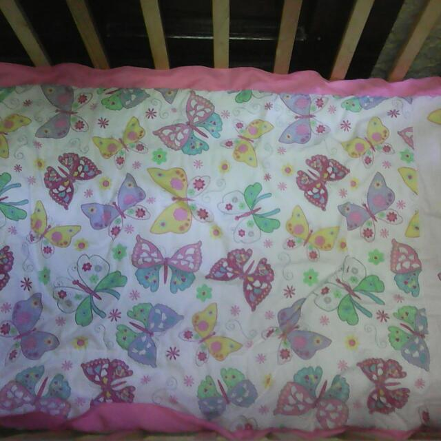 Crib Comforter And Bumper