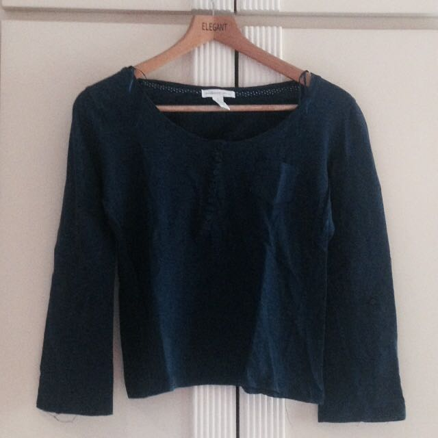 Dark Blue Long-Sleeved Shirt