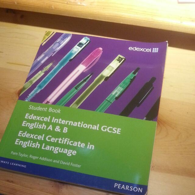 Edexcel IGCSE English A & B Textbook (Pearson)