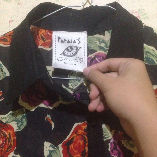 flower black shirt🌸
