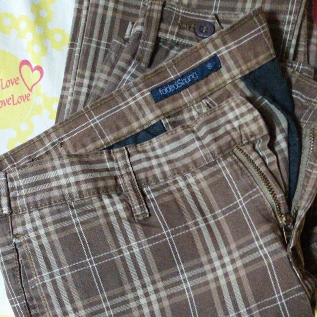 FOLDED & HUNG Plaid Pants