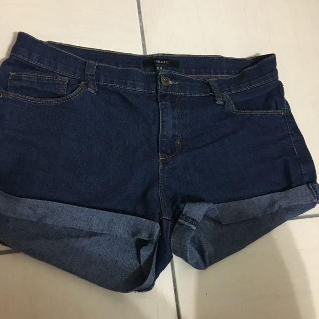 Forever 21 牛仔短褲 彈性 165/71A #兩百元短褲