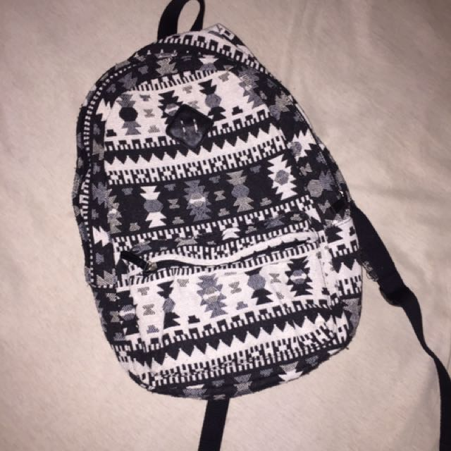 Forever 21 Men Aztec Printed Bag