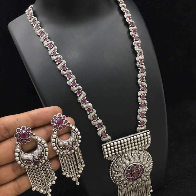 867421573209f German Silver sets With CHANDBALI & JHUMKA Earrings, Women's Fashion ...