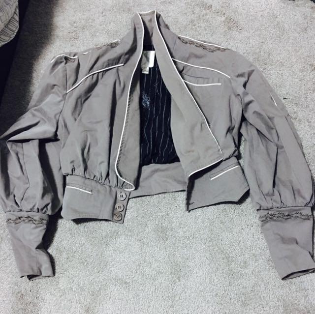 Gray Bolero Jacket