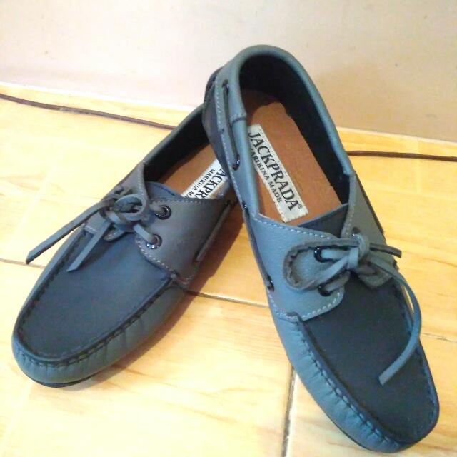 Jackprada Marikina made Driving shoes Gray Black