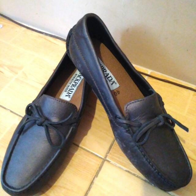Jackprada Marikina made Driving shoes Shiny Brown