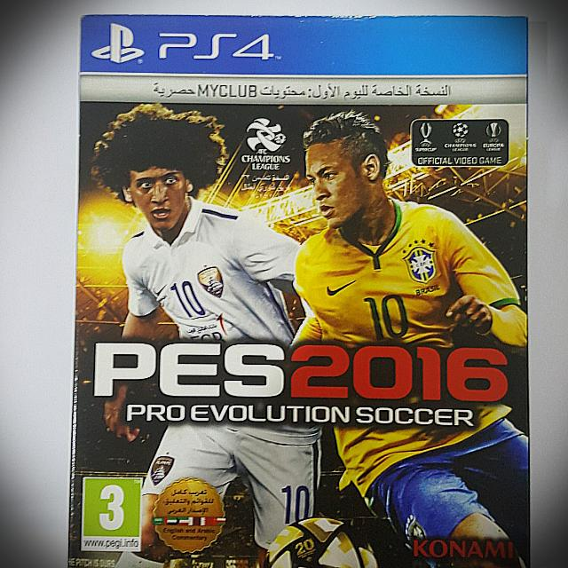 Kaset Original Ps 4 Pes 2016 Special Edition Neymar Cover