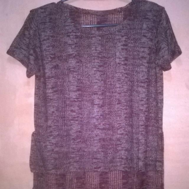 Knitted Long Back Top