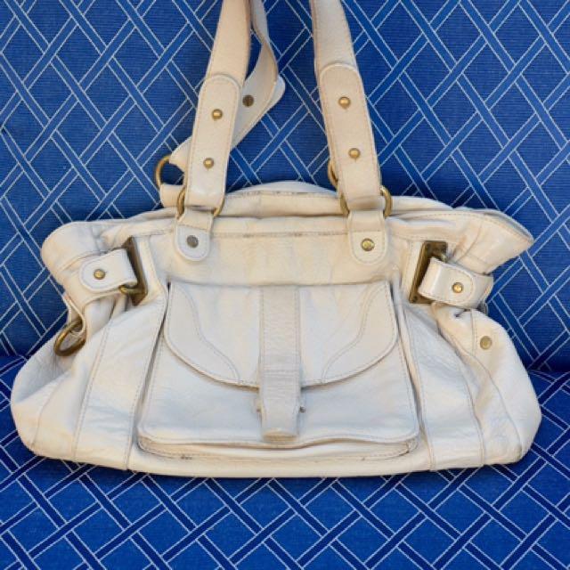 Leather Cue Handbag